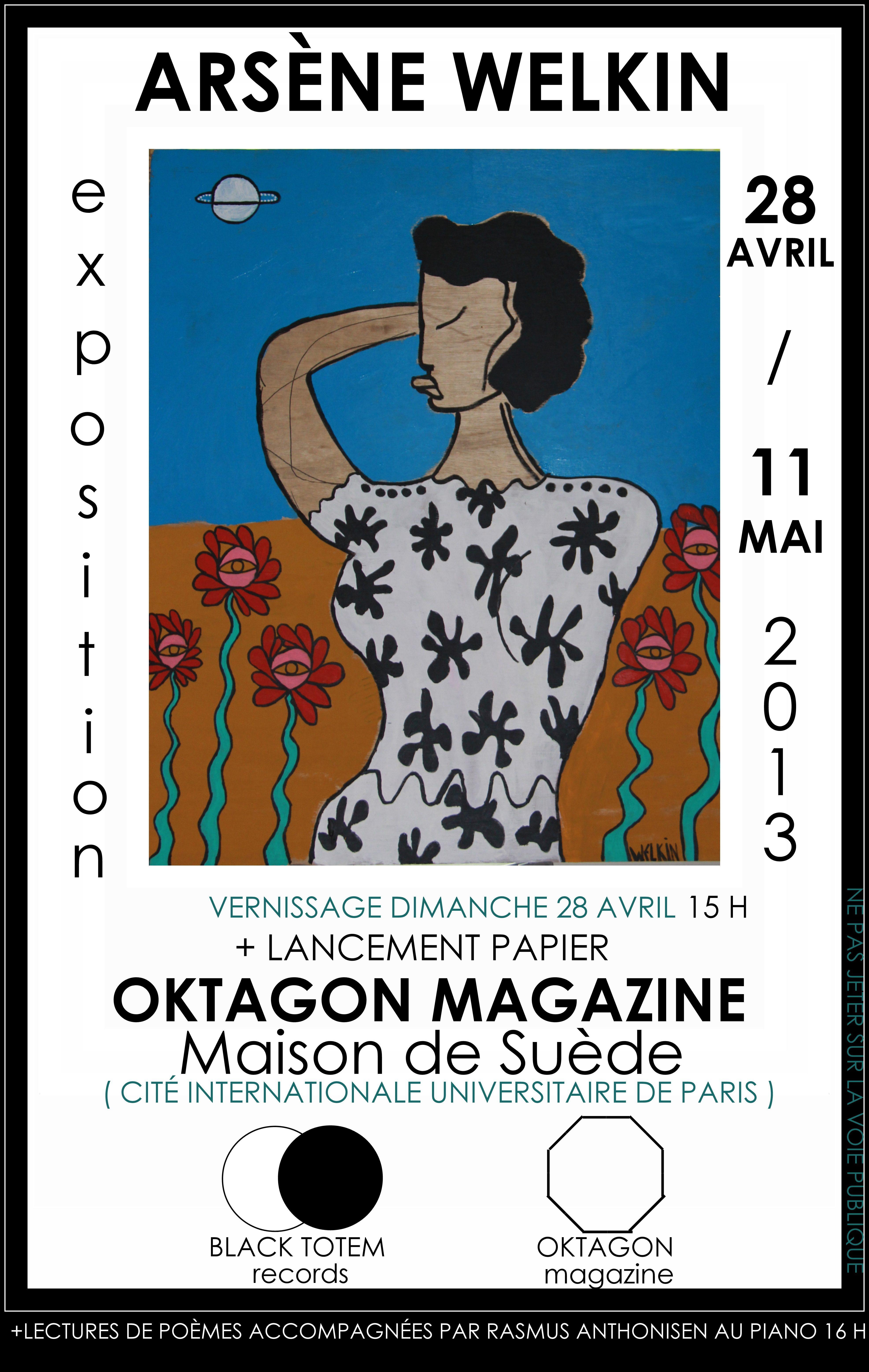 Exposition et lancement du papier Oktagon Magazine