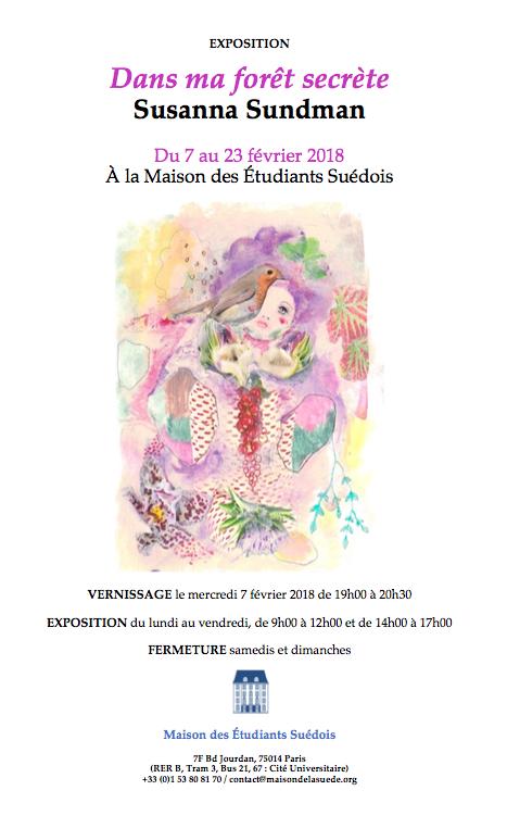 Vernissage de l'exposition «Dans ma forêt secrète» de Susanna Sundman