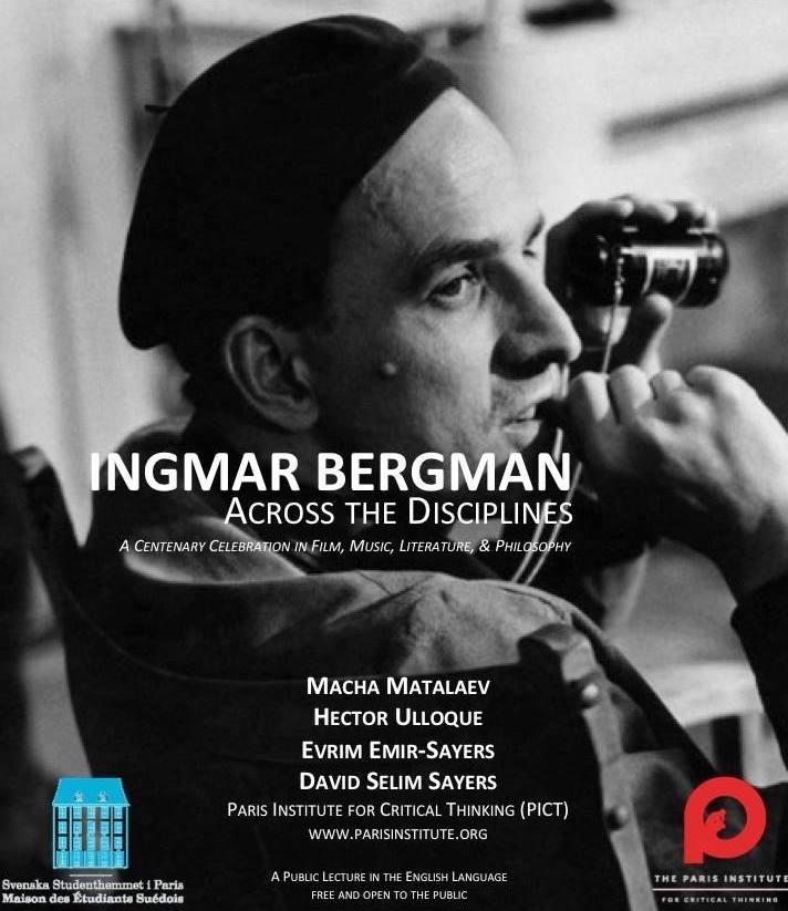 Lecture in English : « Ingmar Bergman Across the Disciplines », November 28th at 8 pm