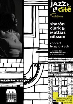 Jazz à la Cité 2019 : concert de Sharón Clark & Mattias Nilsson